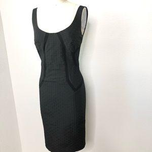 Diane Von Furstenberg Black Sheath Dress. SZ. 2
